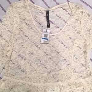 Jessica Simpson Tops - Jessica Simpson lace top XL